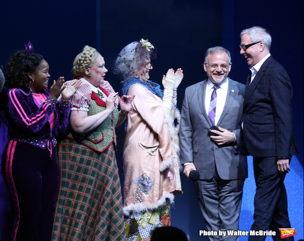 Marc Shaiman and Scott Wittman with cast
