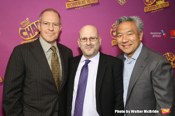 Toby Emmerich, Mark Kaufman, Kevin Tsujihara  Photo