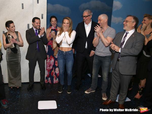 Katie Webber with Joshua Bergasse, Scott Wittman, Christian Borle, Marc Shaiman
