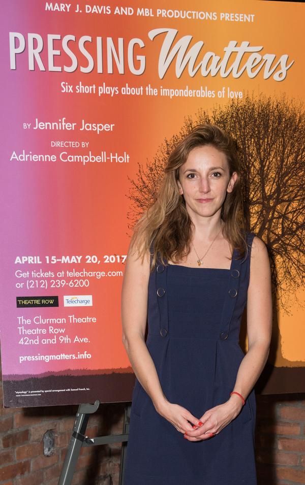 Photo Flash: Jennifer Jasper's PRESSING MATTERS Celebrates Opening Off-Broadway