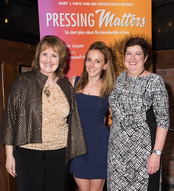 Producer Mary J. Davis,  Adrienne Campbell and playwright Jennifer Jasper