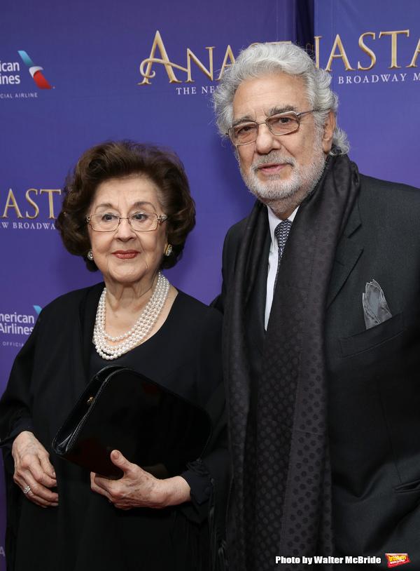 Marta Domingo and Placido Domingo