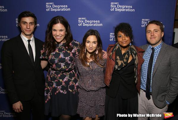 Gideon Glick, Lindsay Mendez, Sas Goldberg, Rebecca Naomi Jones, and Joshua Harmon