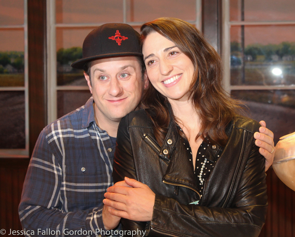 Christopher Fitzgerald and Sara Bareilles Photo