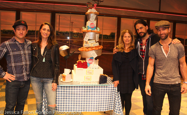 Christopher Fitzgerald, Sara Bareilles, Jessie Nelson, Will Swenson and Chris Diamant Photo