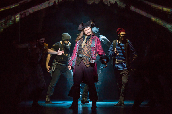Tom Hewitt as Captain Hook and Cast in Finding Neverland