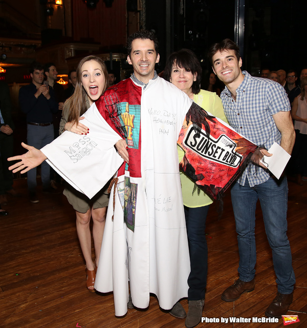 Laura Osnes, Kevin Worley, Beth Leavel and Corey Cott