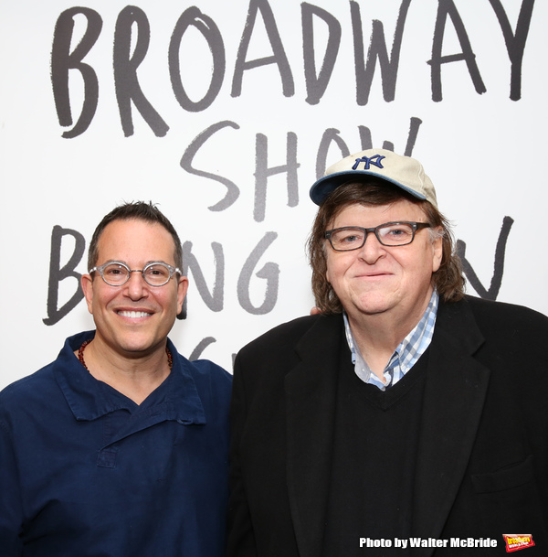 Director Michael Mayer with Michael Moore