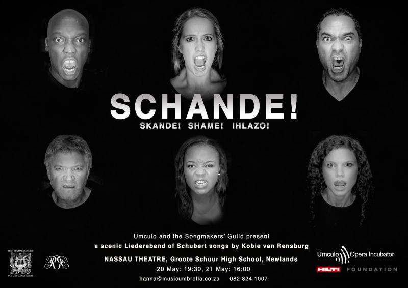 SCHANDE! | SKANDE! | SHAME! | IHLAZO! Brings the Songs of Schubert to the Nassau Centre in Cape Town