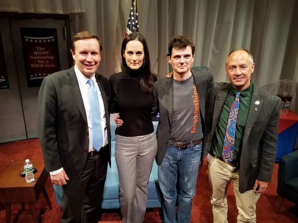 Chris Murphy, Charlotte Cohn, Jason Odell Williams and Mark Barden