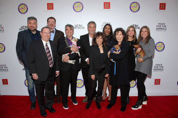 oice for the Animals board members with councilmember Paul Koretz, comedian Craig Ferguson, and Emmy and Tony-winning actress and animal advocate Lily Tomlin with adoptable dogs from West Los Angeles Animal Shelter.