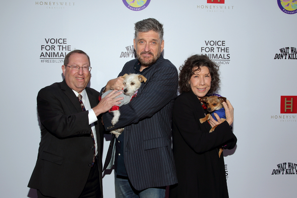 Paul Koretz with Craig Ferguson and Lily Tomlin