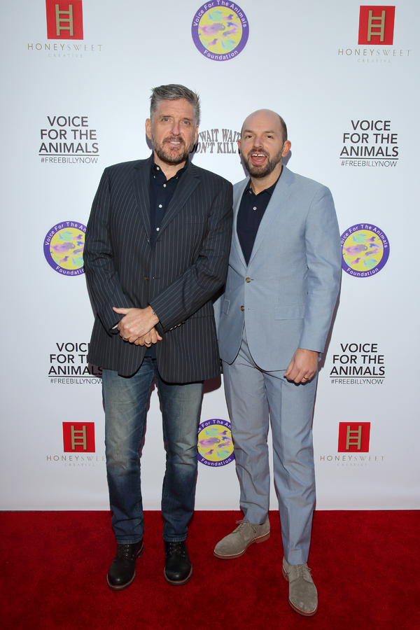 Craig Ferguson and Paul Scheer.  Photo