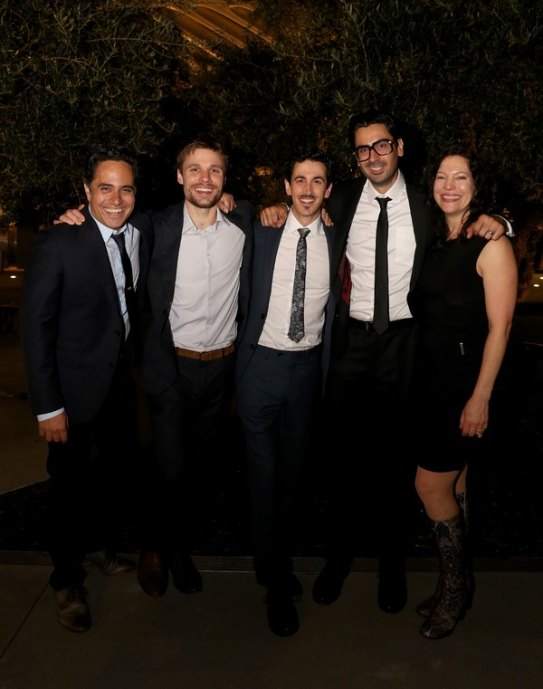 Rajiv Joseph, Josiah Bania, Stephen Stocking and Ramiz Monsef and  Giovanna Sardelli