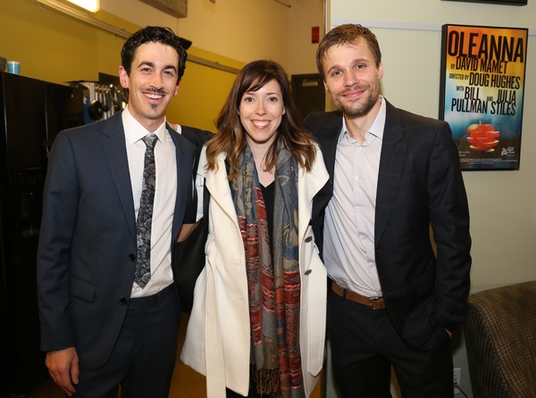 Stephen Stocking, Center Theatre Group Associate Producer Lindsay Allbaugh and Josiah Bania