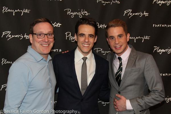 Jeremy Shamos, Steven Levenson and Ben Platt