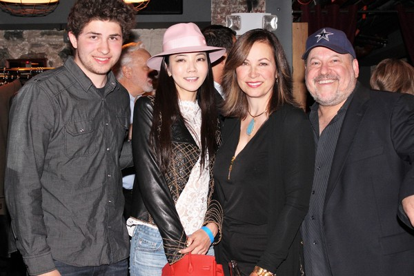 Jake Wildhorn, Takako Wildhorn, Linda Eder and Frank Wildhorn