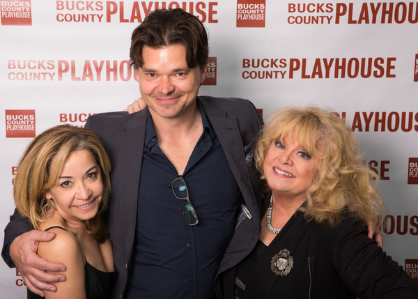 Jen Cody,  Hunter Foster and Sally Struthers