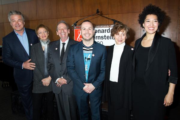 Alec Baldwin, Jamie Bernstein, Alexander Bernstein, Yannick Nezet-Seguin, Nina Bernstein, Julia Bullock