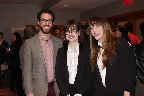 Josh Luxenberg, Rosalind Grush and Meghan Finn