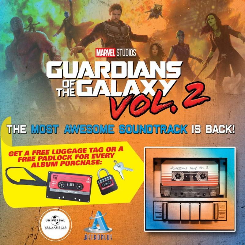 'Guardians of the Galaxy Vol. 2: Awesome Mix Vol. 2' Now Available at Astroplus Philippines