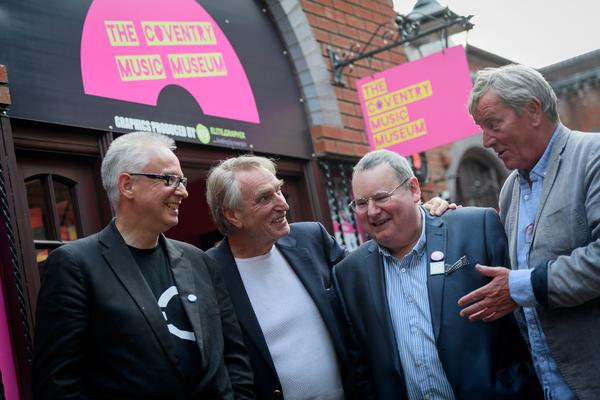 Alan Pollock, Frank Ifield, Pete Chambers BEM, and Hamish Glen Photo