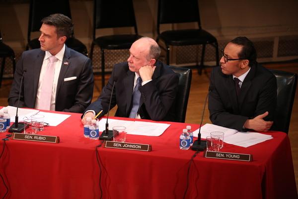 Raul Esparza, Nathan Osgood and Aasif Mandvi
