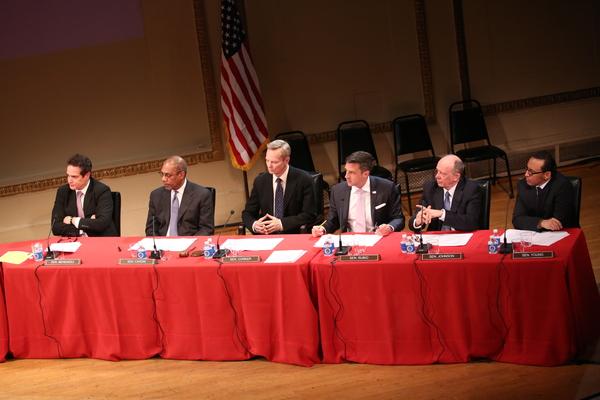 Yul Vazquez, Joe Morton, Bill Irwin, Raul Esparza, Nathan Osgood, and Aasif Mandvi