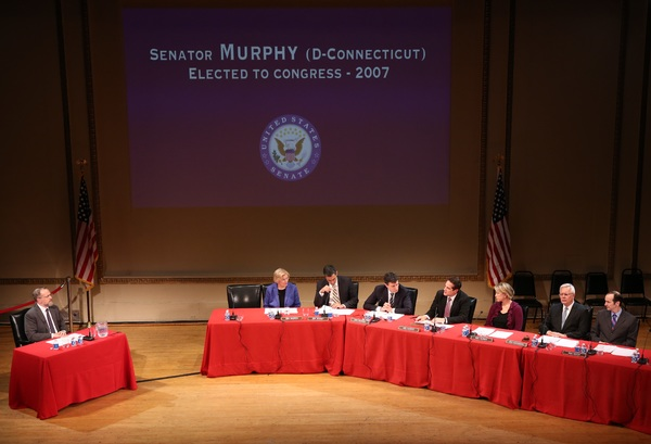 David Costabile as cabinet nominee Dr. Tom Price, Ellen Burstyn as Senator Warren, Ivan Hernandez as Senator Bennet, David Remnick as Senator Franken, Yul Vazquez as Senator Murphy, Linda Emond as Senator Murray, Walter Bobbie as Senator Alexander, and De
