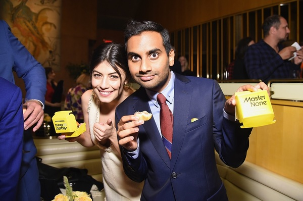 NEW YORK, NY - MAY 11: Actress Alessandra Mastronardi and Co-creator, Executive Producer and Actor Aziz Ansari attend the Netflix Master Of None S2, Premiere NY Screening 2017 on May 11, 2017 in New York City.  (Photo by Michael Loccisano/Getty Images for