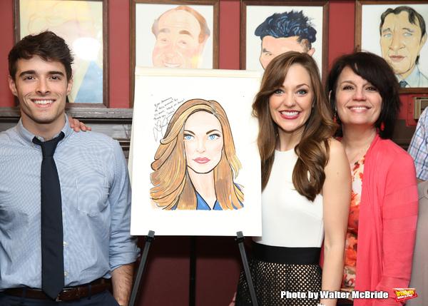 Corey Cott,  Laura Osnes and Beth Leavel