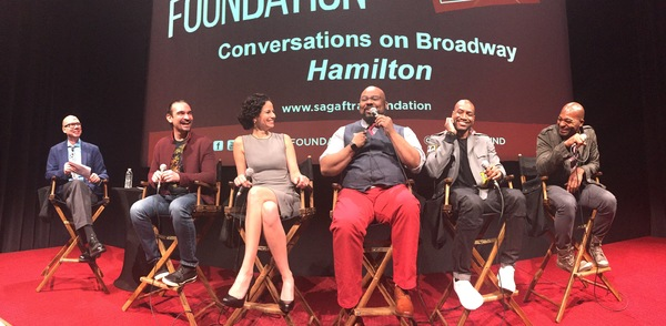 Richard Ridge, Javier Munoz,  Mandy Gonzalez, James Monroe Iglehart, Bryan Terrell Clark, and Brandon Victor Dixon
