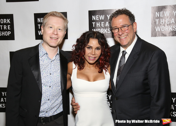 Anthony Rapp, Daphne Rubin Vega and Michael Greif