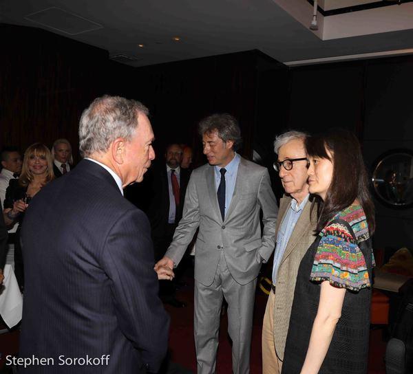 Mayor Michael Bloomberg, Marco Maccioni, Woody Allen, Soon-Yi Previn Photo