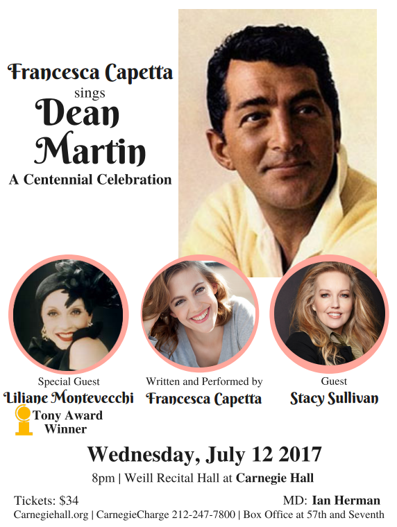 Francesca Capetta Sings Dean Martin: A Centennial Celebration this July