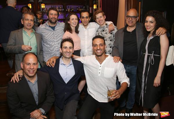 David Cromer, Itamar Moses and David Yazbek with 'The Band's Visit' team
