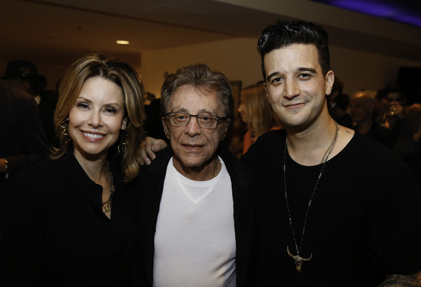Jackie Jacobs, Frankie Valli and cast member Mark Ballas