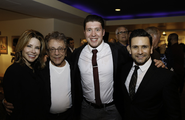 Jackie Jacobs, Frankie Valli and Matthew Dailey and Aaron De Jesus