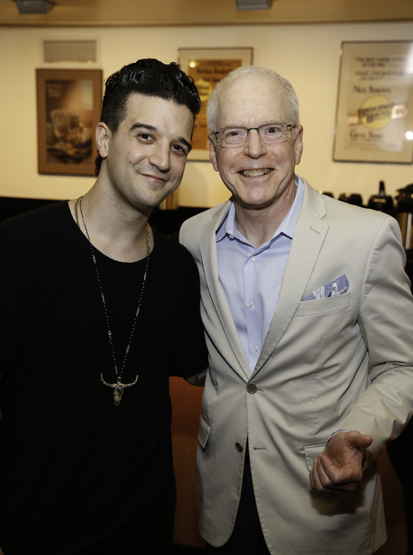 Cast member Mark Ballas and Center Theatre Group Producing Director Douglas C. Baker