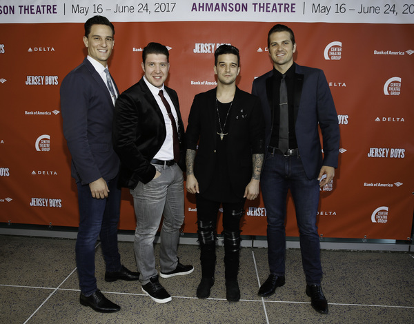 Cast members Cory Jeacoma, Matthew Dailey, Mark Ballas and Keith Hines