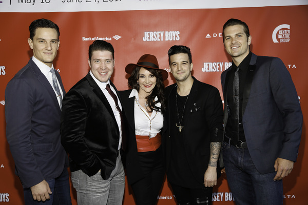 Cast members Cory Jeacoma and Matthew Dailey, Shirley Ballas and cast members Mark Ballas and Keith Hines