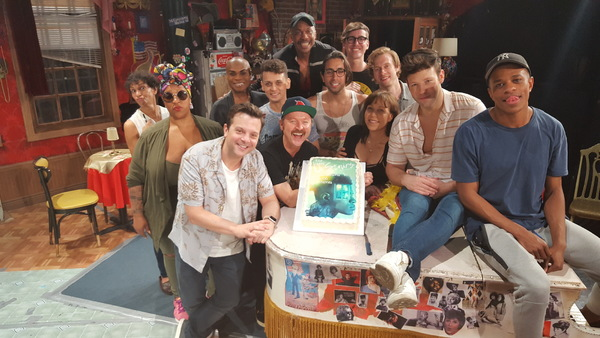 """The cast of The View UpStairs: Front row â€"""" Director Scott Ebersold, Benjamin Howes, April Ortiz, Taylor Frey, Jeremy Pope Middle row â€"""" Nancy Ticotin, Frenchie Davis, Nathan Lee Graham, Michael Longoria, Anthony Alfaro, Ben Mayne Back row â€"""" Richard E"""
