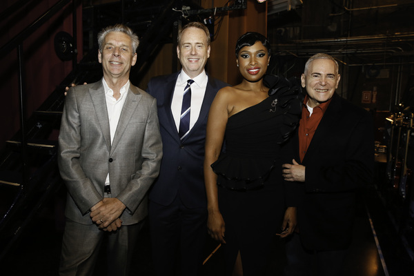 Michael Ritchie, Robert Greenblatt, Jennifer Hudson and Craig Zadan