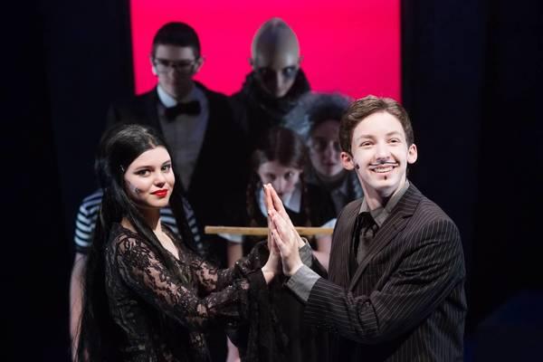 Angelina Boris, Andrew Feldman and the Addams Family Photo