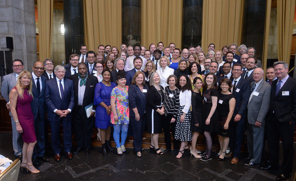 Columbia University hosted the 101st Pulitzer Prize ceremony yesterday, May 22nd, at Low Library with the 2017 winners, including Jo Becker (The New York Times), incoming Pulitzer Board Chair Eugene Robinson (Washington Post), President Lee C. Bollinger,