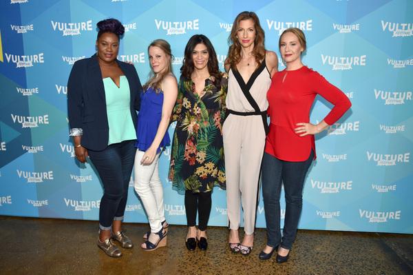 Adrienne C. Moore, Emma Myles, Laura Gomez, Alysia Reiner and Kelly Karbacz