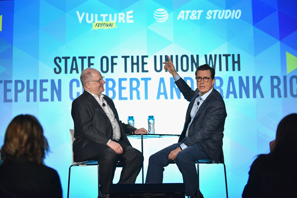 Frank Rich and Stephen Colbert