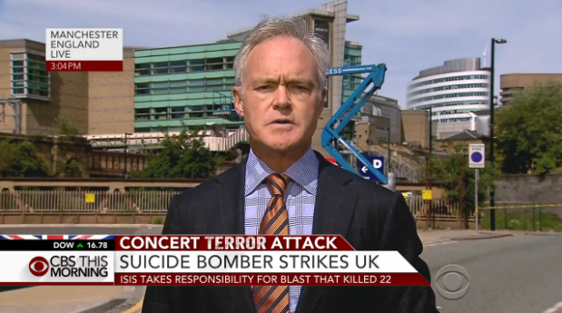 cbs evening news with scott pelley to air live from manchester