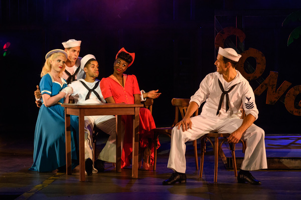 Lizzy Connolly, Samuel Edwards, Jacob Maynard, Miriam-Teak Lee and Danny Mac as Hildy Photo