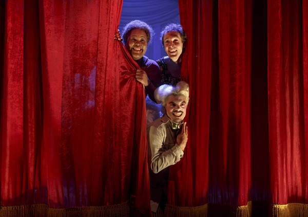 Ashley D. Kelley (as Bella), Olli Haaskivi & Yurel Echezarreta. Photo by Joan Marcus